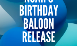 Noah's Birthday Balloon Release